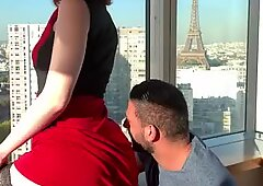 Alex Harper, young American girl fucked in Paris in all the