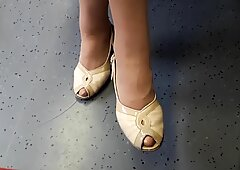 Nylon Granny legs and feet