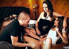 Virgin sugar baby pleased by sugar daddy in a threesome