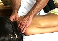 TrickySpa SEXY Latina Blowing Sly Masseur