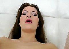Huge dildo is installed in Lena Love's asshole