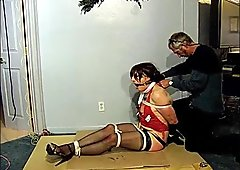 gagged and whipped TV slut