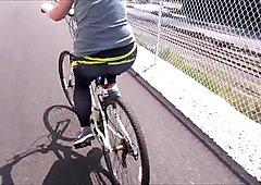 Spandex Angel - Tight spandex bike ride