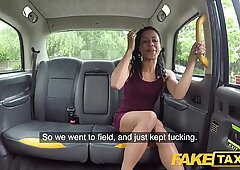 Fake Taxi Fast fucking and creampie for peachy ass