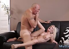 Old woman and granny young Horny ash-blonde wants to attempt someone lil  bit more - Lil' Bit More