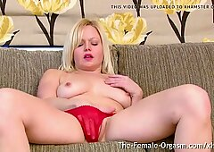 Multi Orgasamic Babe with Perky Nipples and One Big PussyLip