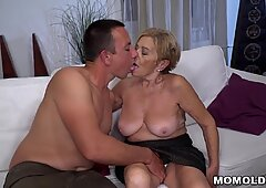 70  GILF Is In Love With Young Cock