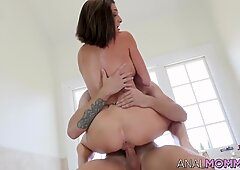 Mature Silvia Saige enjoys rough anal fuck on camera