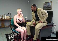 Almost Bald Hot Babe Riley Nixon Milks Big Dick Rome Major!