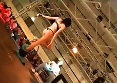 Hot amateur footage shot at huge live sex show