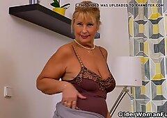 Euro granny Gigi needs to rub one out