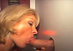 Anal Blonde MILF Fucking and Blowing in Glory Hole