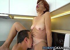 Granny gets cum soaked