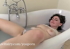 Romy enjoys a sexy bath and some alone time
