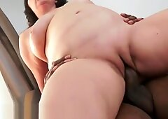 Chubby gilf jizzed in mouth by big cock