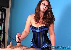 Amateur spex MILF in lingerie jerksoff cock