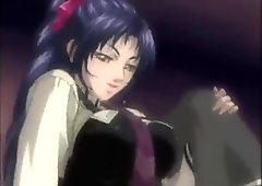 Sexy anime lesbians making love