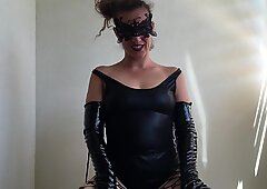 sadism & masochism RolePlay with chains. neat my vulva from his cum. By HotwifeVenus.