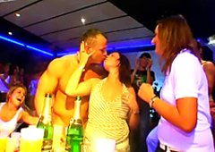 Breathtaking club orgy with drunk and uncontrollably horny sluts