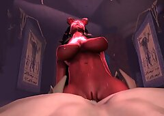 Busty 3D Redhead Fucked Hard by a Zombie Horror Anal - Lisa Deleeuw