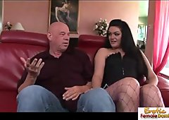 Bald guy can't stop humping this horny slut