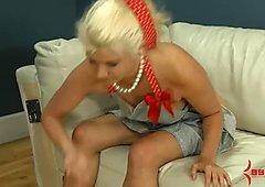 Blond does extreme ATM annd eats ass, feet, and 8 cum loads