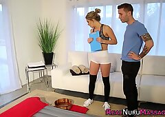 Nuru masseuse has anal