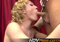 HDVPass Lily Labeau Gives a Blowjob Before Riding Cock