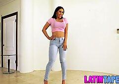 Astonishing fledgling Latina Valerie Kays cool casting tape