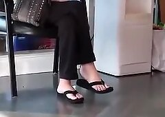 Mature white pink toes