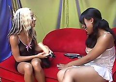 Ebony Lesbians With Strapon