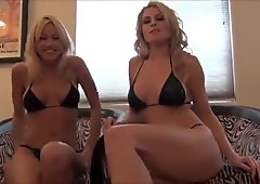 Two blondes give JOI with countdown