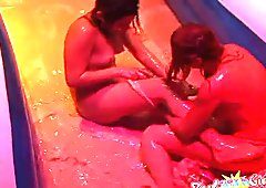 Raw & Nude Pudding Wrestling P2