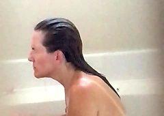 Sexy wife voyeured in bathtub