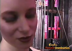 Three smoking hot playgirls have some kinky fun in the dunge