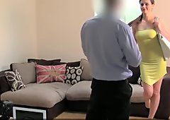 Assfucked european casting milf gets gapeshot