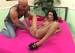 Darcy Tyler is rammed as her husband films it