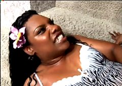 BBW ebony bitch Edible gets her fat pussy pounded bad