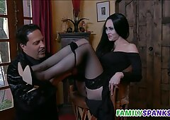 Morticia Get Licked by Perv Gomez - Audrey Noir - Kate Bloom
