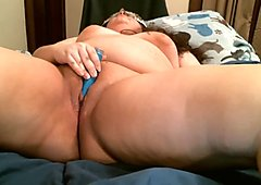 BBW Cums While Playing With Her Creamy Pussy