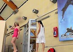 Lera and Sima Lastova sexy underwater girl