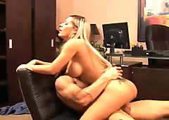 Pretty blonde secretary get a dick in her office
