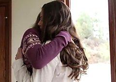 Nice student lesbian kissing hot