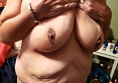 Big tits and fat belly