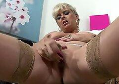 Sexy British Accent Women Stokes Herself