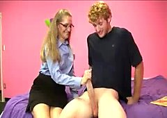 Milf Babes Cockjerking Skills Please His Dick