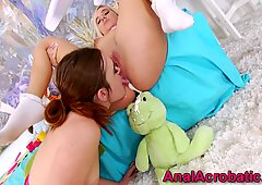 Lesbian toys and licks gaping ass