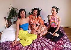 Three Amateur Babes, 2 Sex Toys, Wild Fun