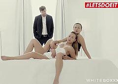 LETSDOEIT - Tina Kay and Taylor Sands Share One Lucky Boy