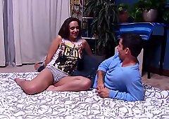 Viola Starr receives her hairy armpit jizz